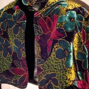 Jewel-toned Velvet Bolero Jacket
